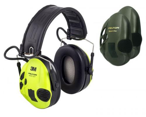 Активные наушники Peltor Sport-Tac, сменные боковые панели, (оливковые и салатовые) 37087.003