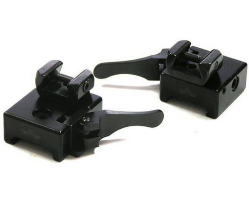 Быстросъемные стойки Apel-EAW на базу Picatinny для прицелов с шиной LM, BH=14.5 мм 365-30800