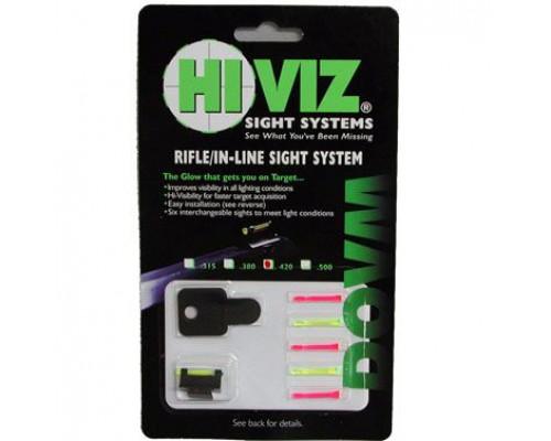 """HiViz мушка поперечная для карабинов с планкой 9,5 мм (3/8"""") высота .420"""""""