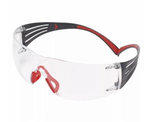 Очки Стрелковые 3M™ Securefit™ 401,Поликарбонат,Покрытие Scotchgard™ As-Af,Линзы Прозрачные,Дужки - Красные,19Г