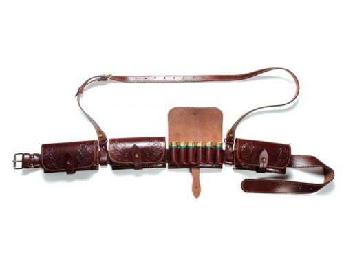 Патронташ со съемными подсумками ПФ Вектор П-40 (кожа)