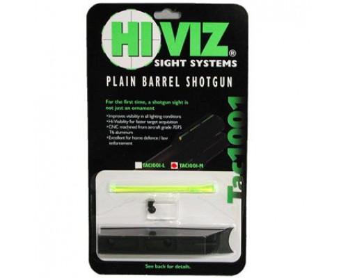 HiViz мушка Tactical для гладк. оружия к.12, высота 10,7мм, комплект - зелен. волокно, винты, планка