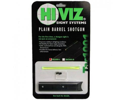 HiViz мушка Tactical для гладк. оружия к.12, высота 5,4мм, комплект - зелен. волокно, винты, планка
