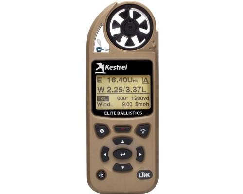 Карманная метеостанция KESTREL 5700 Elite c функцией Link и б.к. Applied Ballistics, цвет коричневый (0857ALTAN)