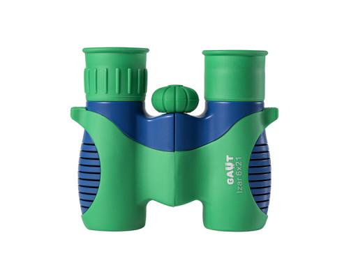 Бинокль Gaut Izar 6X21, Roof-Призмы Bk7, Цвет - Зеленый/Голубой, 200Г