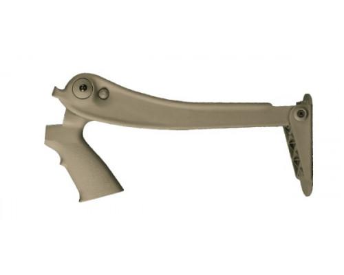 Приклад складной ATI Mossberg / Remington / Winchester / Maverick (цвет Tan / пластик)