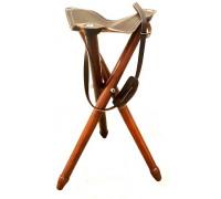 Стульчик-тренога Januel из кожи и дерева (высота 60 см)
