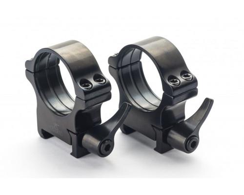 Быстросъемные кольца Rusan на Weaver 40мм, (рычаг) BH=11мм 050-40-11-R