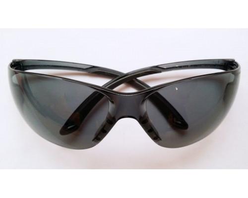 """Очки стрелковые """"Stalker"""" защитные, цвет - чёрные, материал - поликарбонат, светопропускаемость 23%, блистер"""