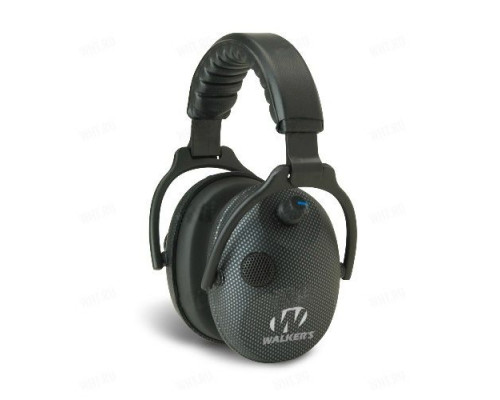 Активные наушники Walker's Alpha Carbon Muff, 2 микрофона, цвет корпуса - карбон