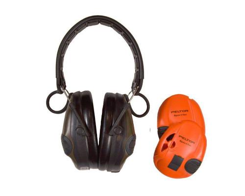 Активные наушники Peltor Sport-Tac, сменные боковые панели, (оливковые и оранжевые) 37087.000