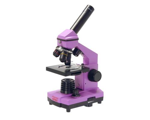 Микроскоп школьный Эврика 40х-400х в кейсе (аметист) 25448
