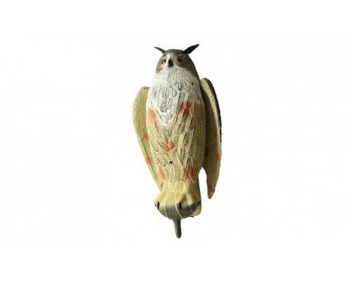 Чучело филина с крыльями большое