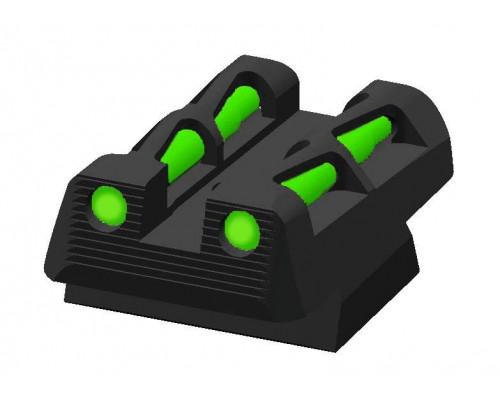 HiViz пистолетный целик CZLW11 для CZ75/85 и P-01, 3 цвета волкон (красн, черн., зелен.)