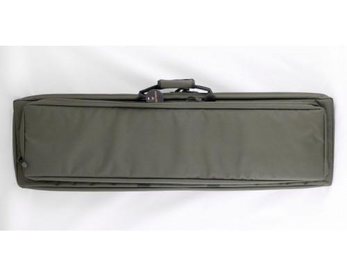 """Кейс Vektor из капрона зеленый с пенополиэтиленом и креплением оружия системой """"молле"""" с рюкзачными лямками"""