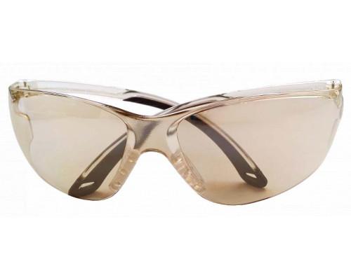 """Очки стрелковые """"Stalker"""" защитные, цвет - зеркально-серые, материал - поликарбонат, светопропускаемость 75%, блистер"""