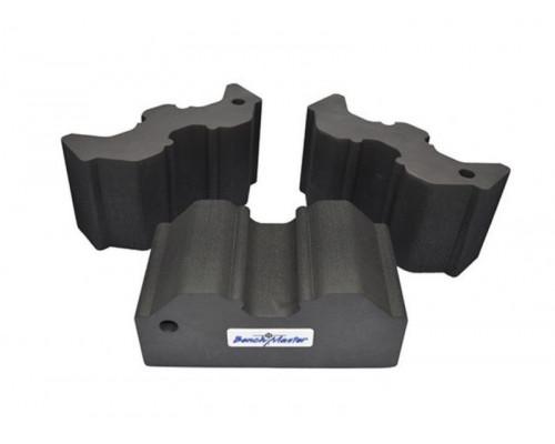 Опора Benchmaster для оружия наборная, жесткая пена, 3 части, прорезиненная основа