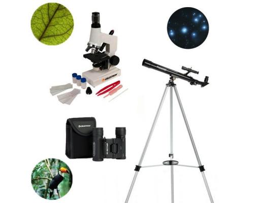 Набор телескоп + микроскоп + бинокль Celestron 3в1
