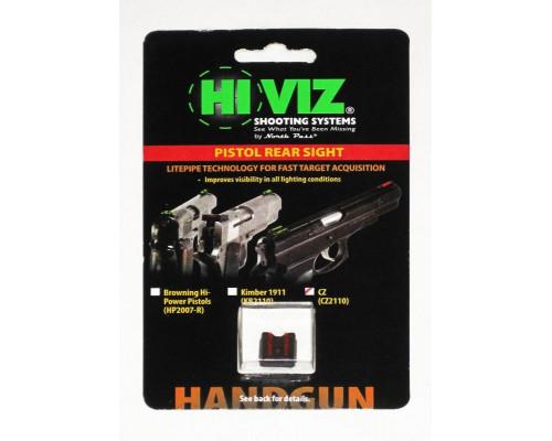 HiViz пистолетная мушка CZ2110-R, целик для CZ75, 85, Р01 красный DISC