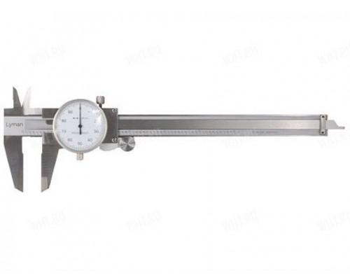 Стальной штанген-циркуль Lyman с механическим стрелочным индикатором