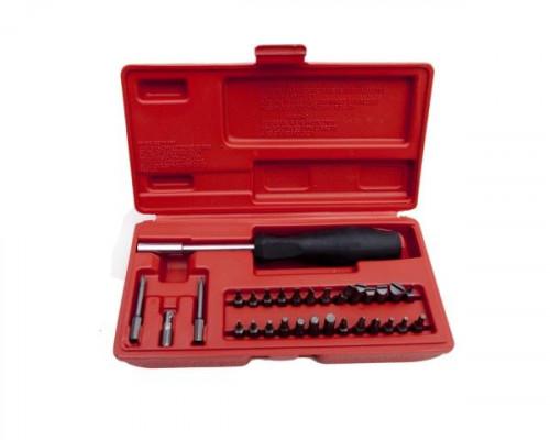 Набор отверток DAC оружейный 31 предмет (29 бит, 1 отвертка, футляр). РУКОЯТЬ - РЕЗИНА, ФУТЛЯР - ПЛАСТИК , БИТЫ - СТАЛЬ