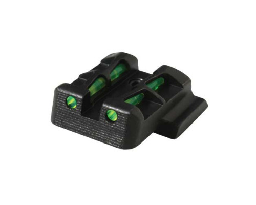 HiViz пистолетный целик GLLW15 для GLOCK под к. 9мм., 40S&W, 357SigSauer, высота 6,5мм, 3 цвета волокон.
