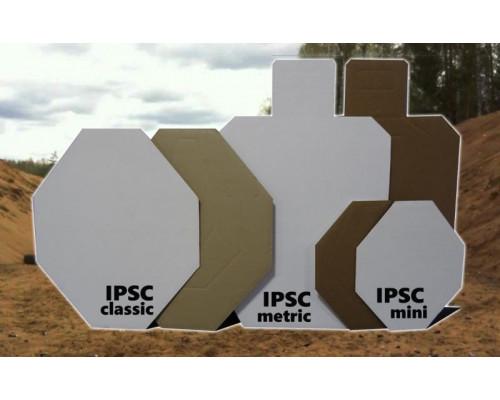 Мишень IPSC метрическая (с белой стороной) 760*460мм, гофрокартон Т23 (10 шт./уп)