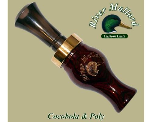 Манок духовой River Mallard Calls Cocobolo / poly double reed (Утка)