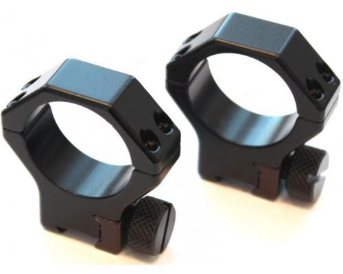 Быстросъемные кольца Contessa для установки на призму 11 мм, 30 мм, BH 20 мм (SDQ02/B0)