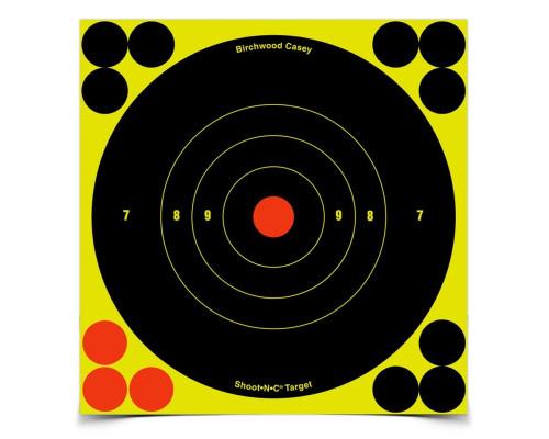Мишень бумажная Birchwood Shoot•N•C® Bull's-eye Target 150мм