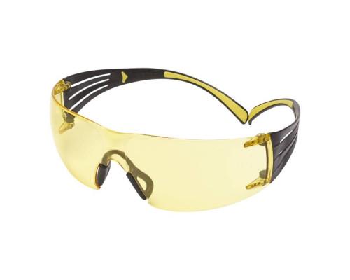 Очки Стрелковые 3M™ Securefit™ 401,Поликарбонат,Покрытие Scotchgard™ As-Af,Линзы Жёлтые,19 Г.